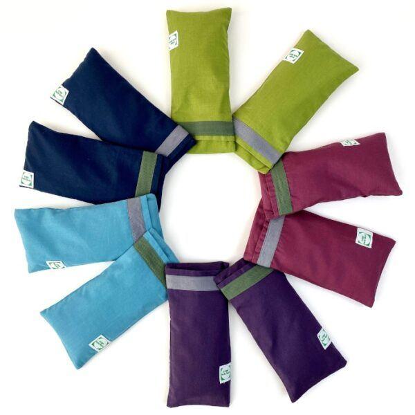 Yoga øjenpuder i forskellige farver