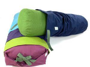 Overtræk i forskellige farver med bindebånd til yogapøller